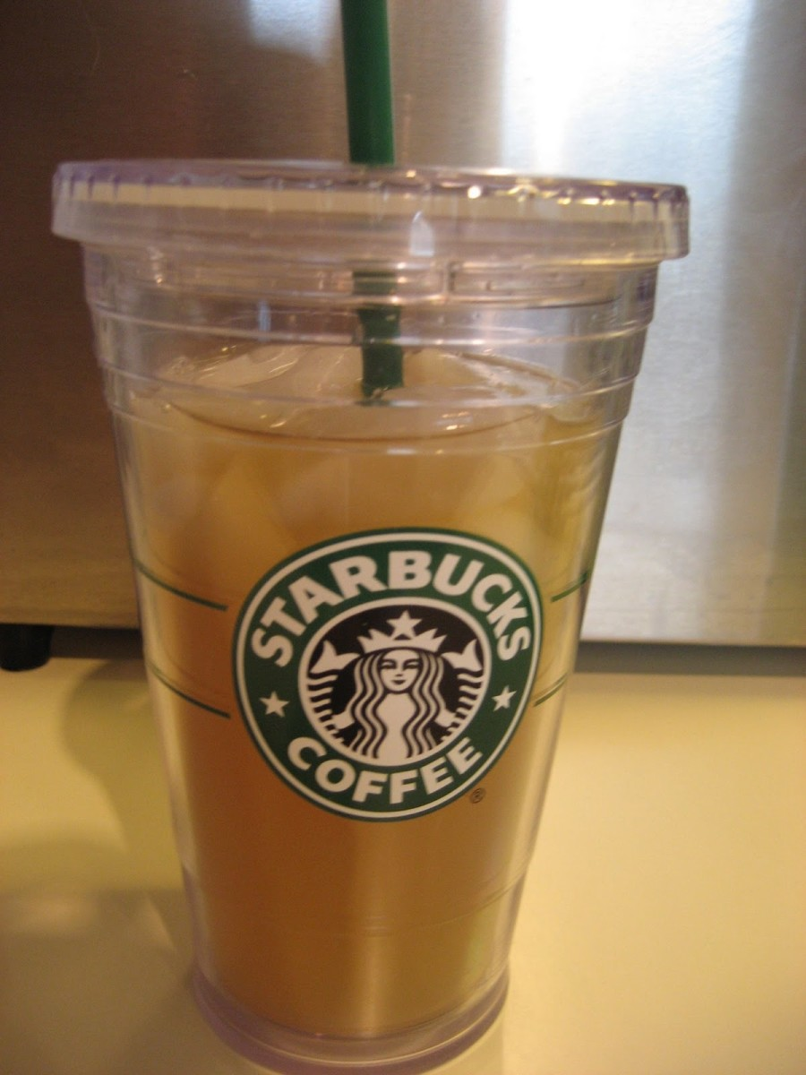 Starbucks has great reusable iced cups that really keep your drinks cold. If you're a daily iced tea drinker, you should pick one up!