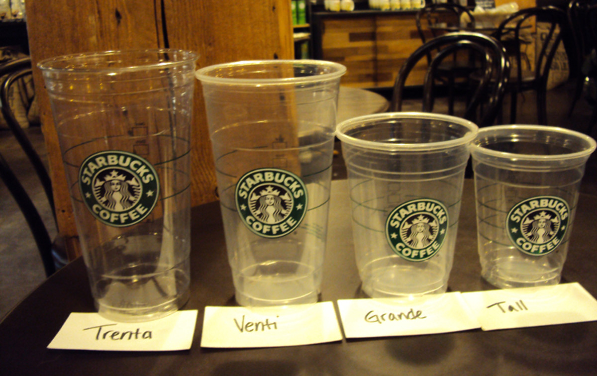 starbucks coffee sizes and prices
