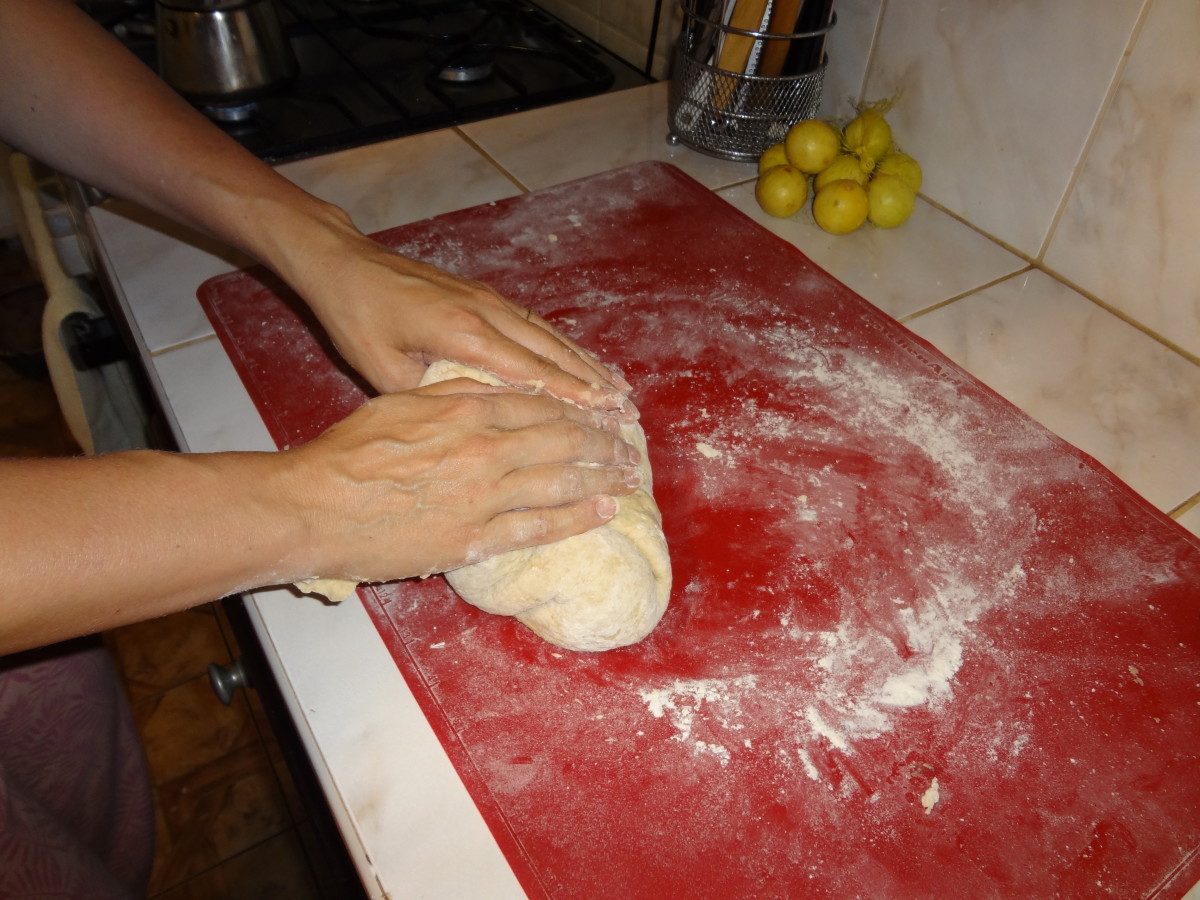 2. Knead dough for 3 - 4 minutes.