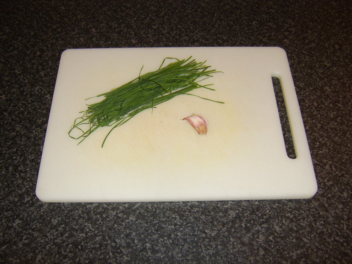 Chives and garlic