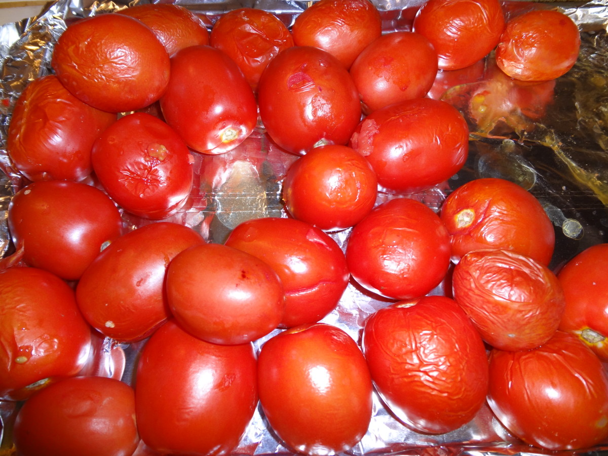 Roast the tomatoes...