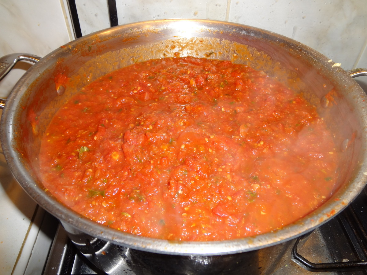 Gently simmer sauce for 2 hours