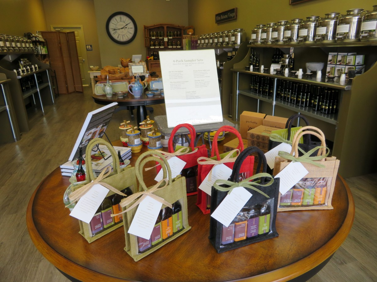 Gift items at Olive & Vine