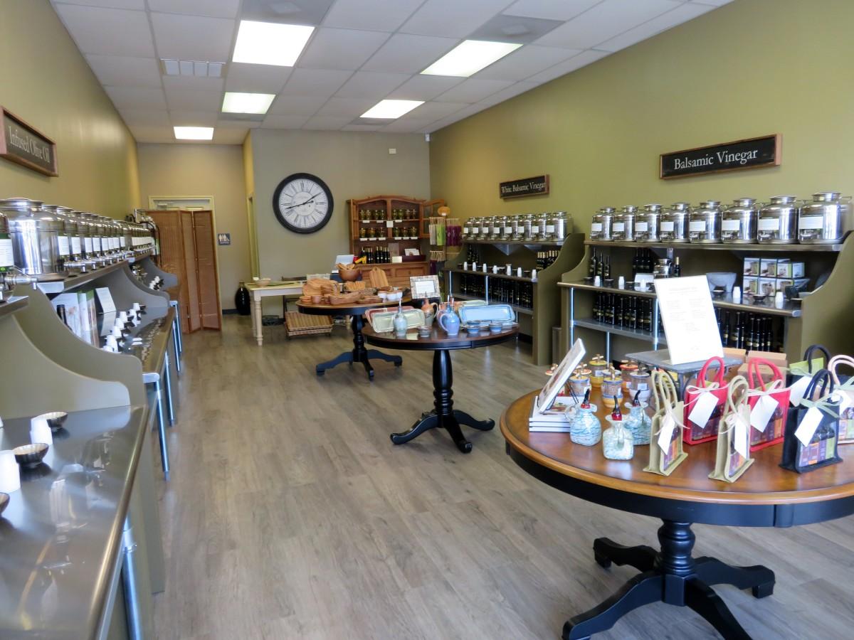 Interior of  Olive & Vine store