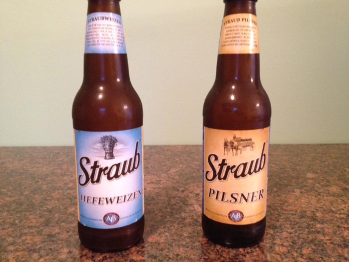 Sunshine sampler brews for summer: Straub Hefeweizen and Pilsner 2014
