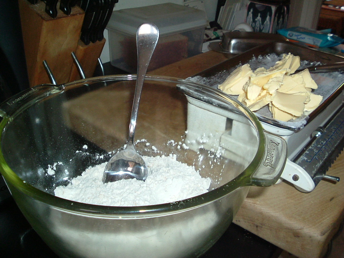 Plain white flour and margarine