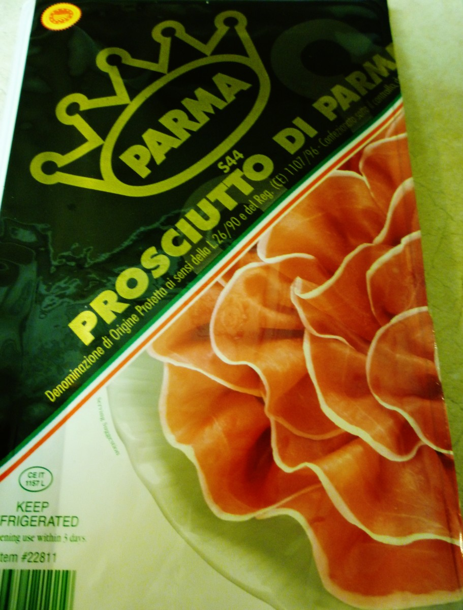 Prosciutto de Parma packages we purchase from Costco