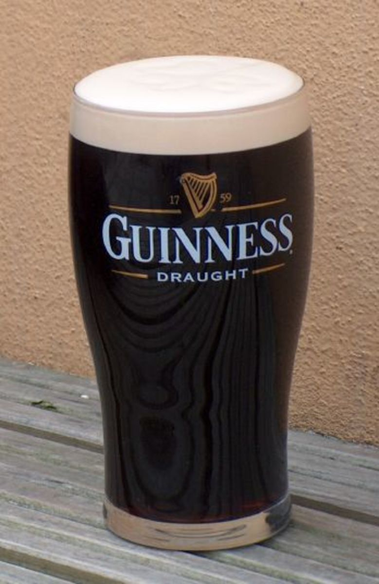 Guinness is a famous Irish beer.