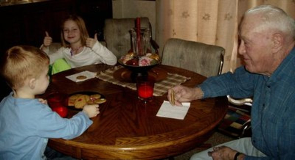 Cookie break with Grandpa.