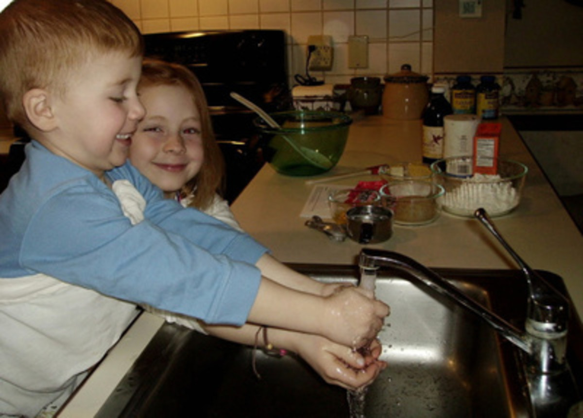 Always wash your hands before cooking or baking.