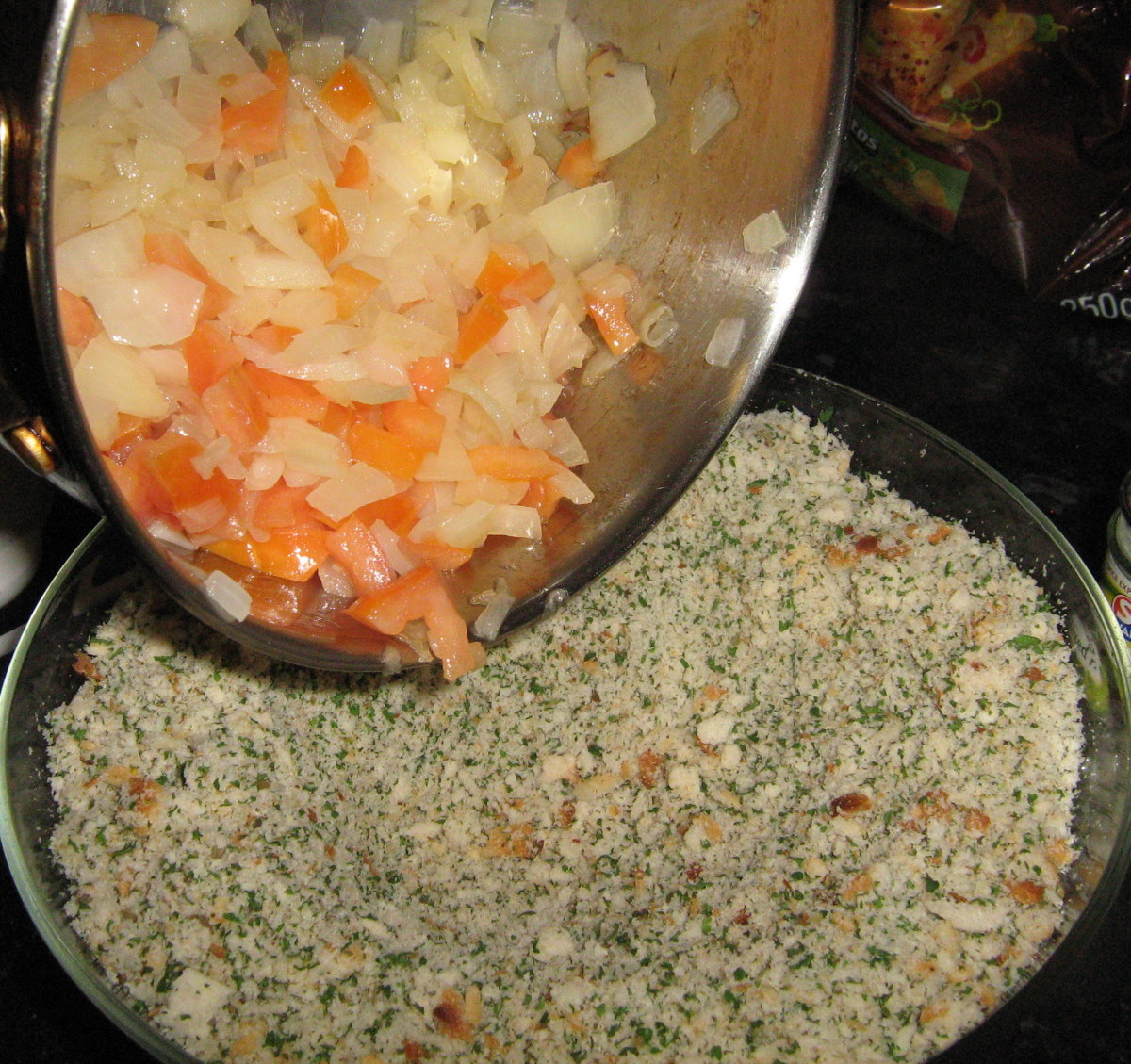 Preparing the stuffing