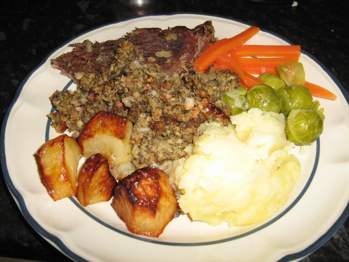 My stuffed steak dinner