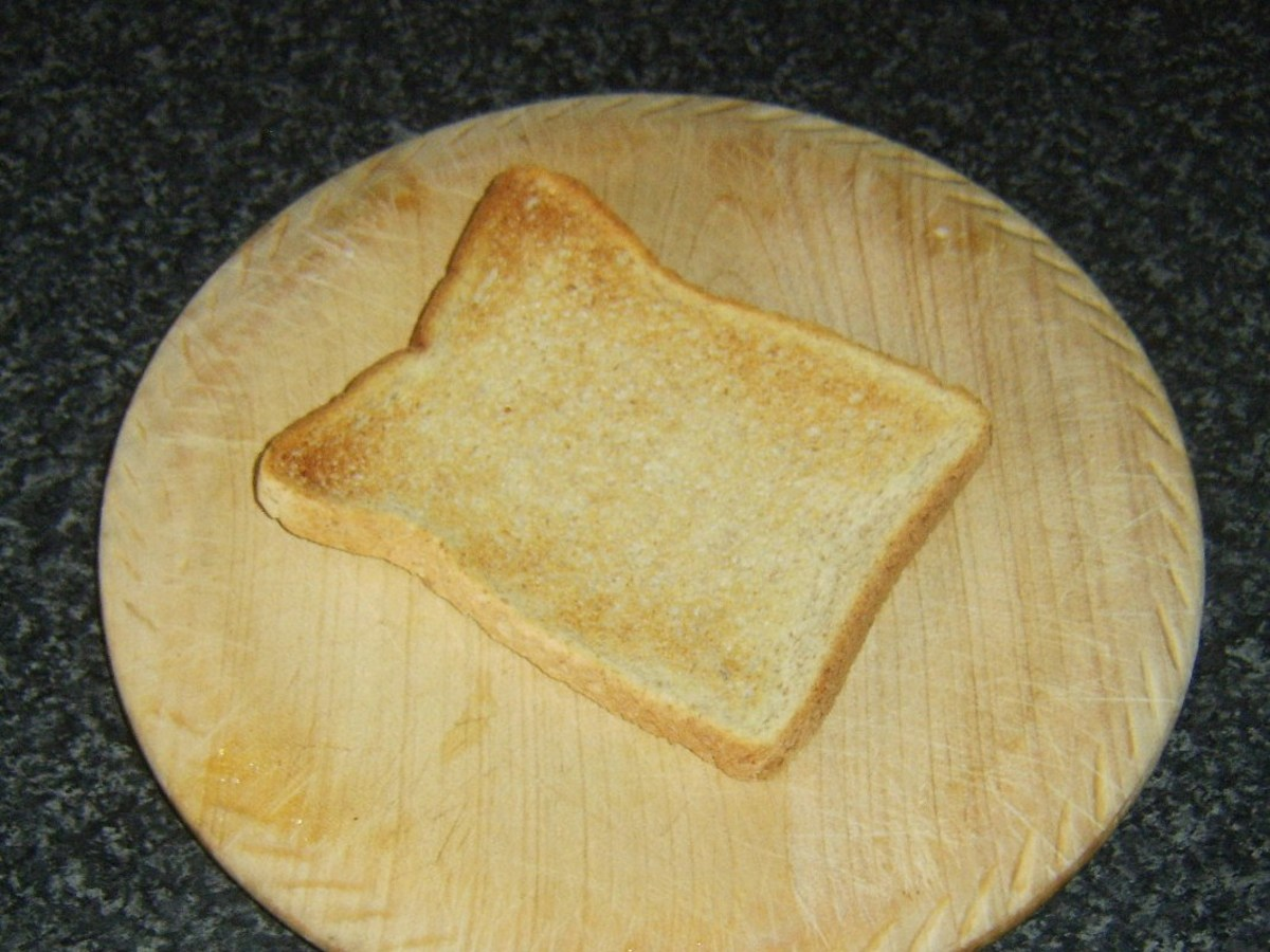 Toast is ready to be buttered and cut in to soldiers