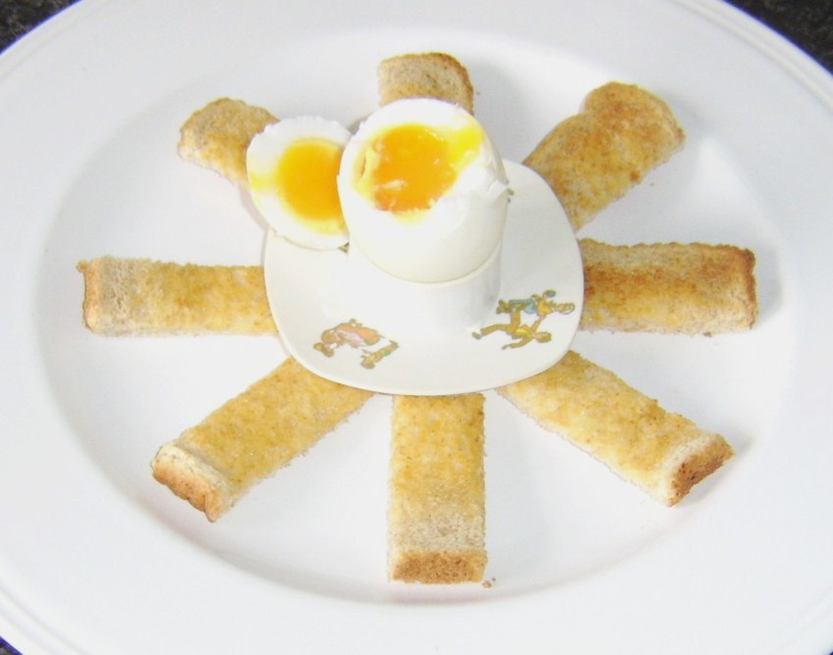 Toasted soldiers are perfect for dipping in to a soft boiled duck egg