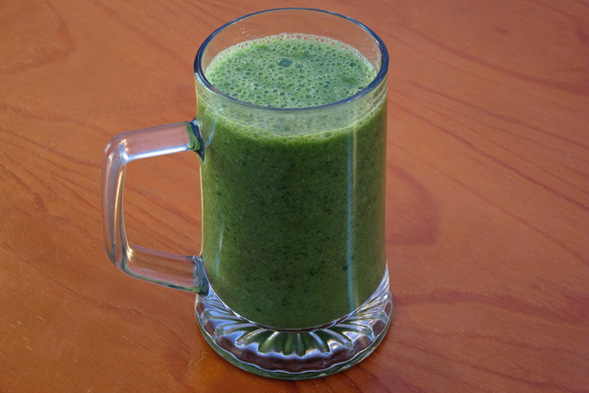 A frothy fruit drink