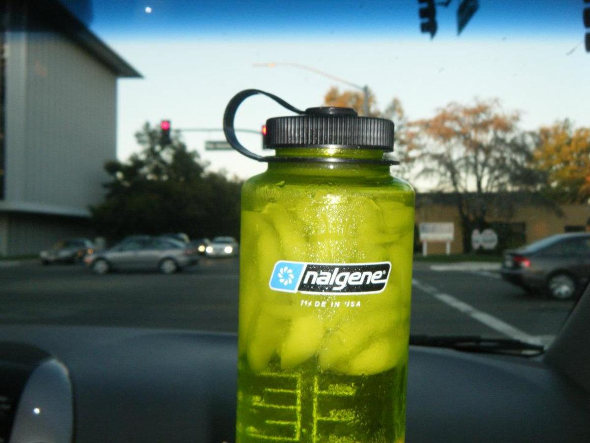 Cheapest sports drink in the world! This is a diluted version of my water and pickle juice!