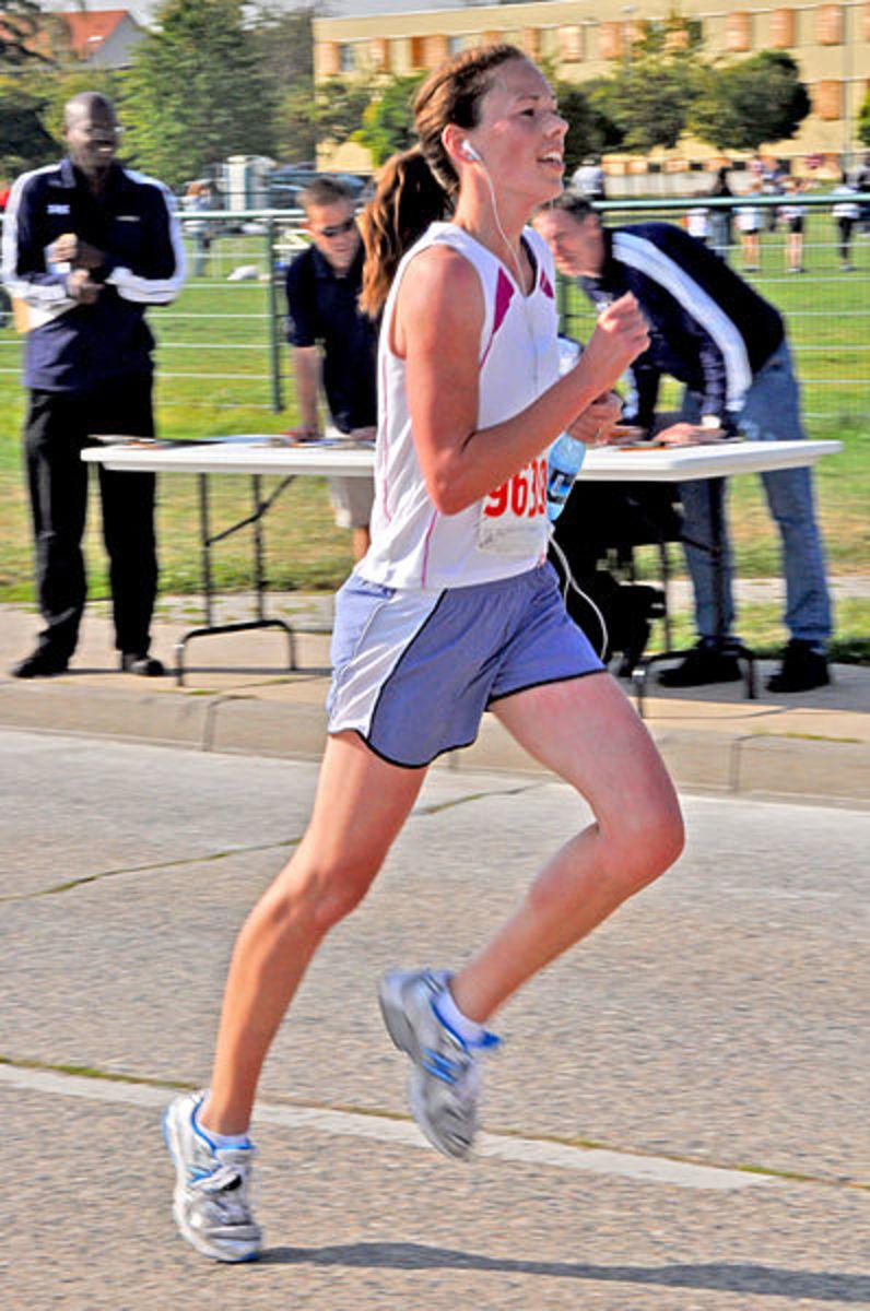 Renee Davis at Wiesbaden Half Marathon