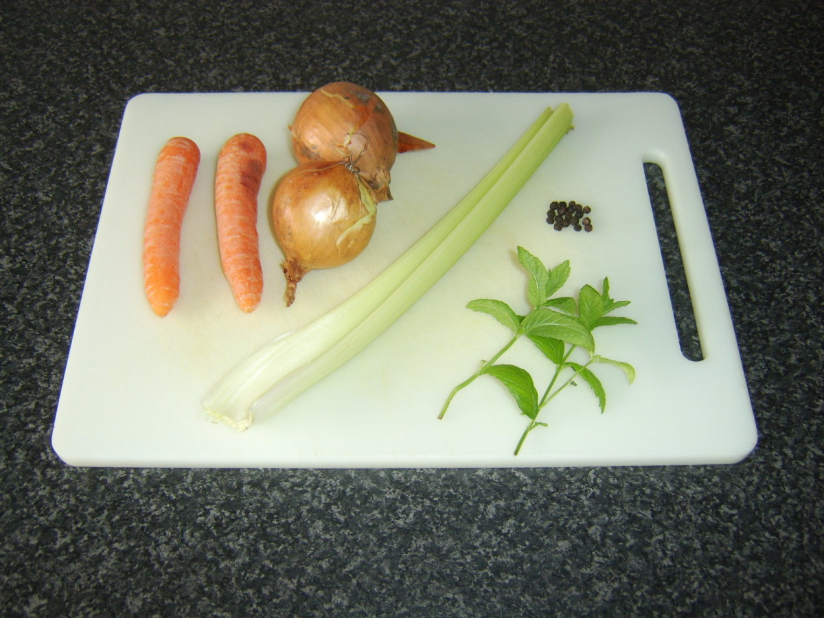 Vegetables for lamb stock