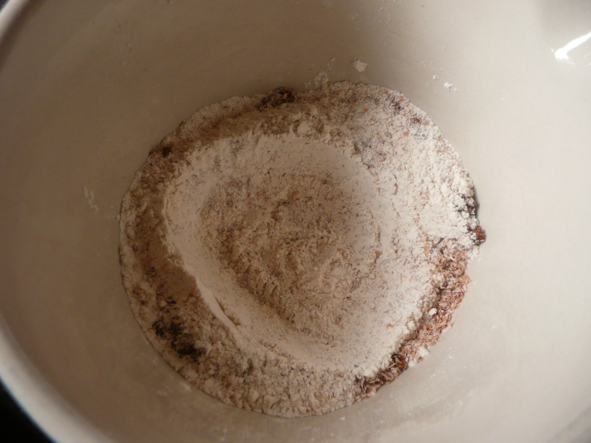 Sieve the flour and baking powder into a bowl. Add the sugar (if using).