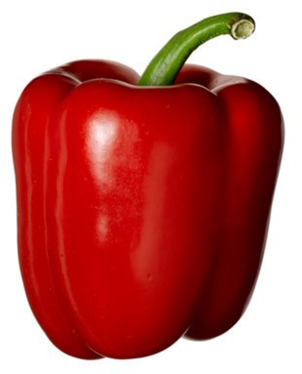 Red bell peppers are the sweetest.