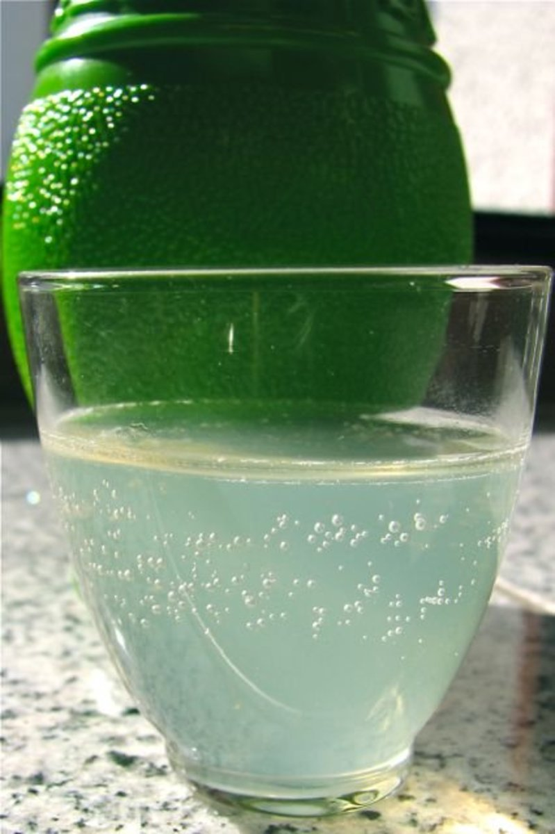Preserved lime juice - used often in meals.