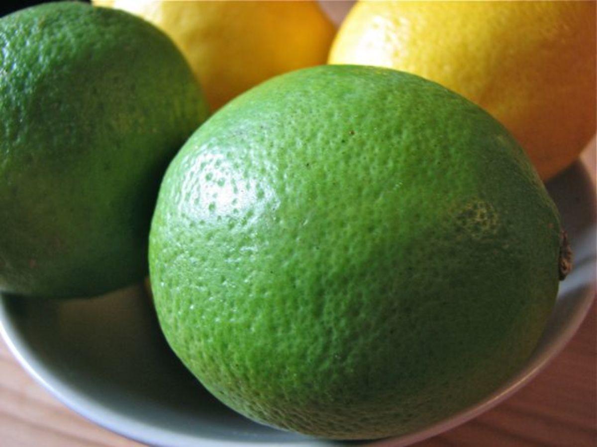 Fresh lemons and limes.