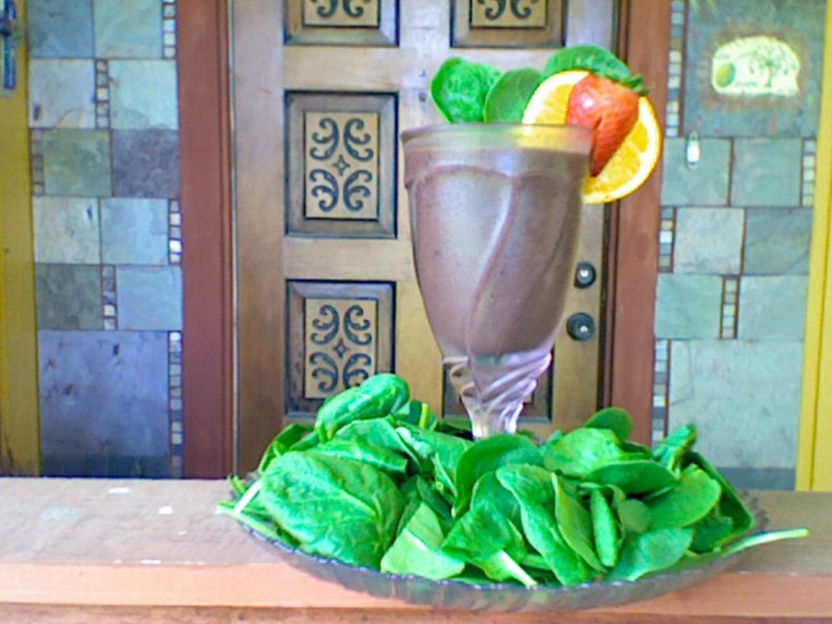 DIY Healthy Spinach Juice Smoothie . . . Yum!