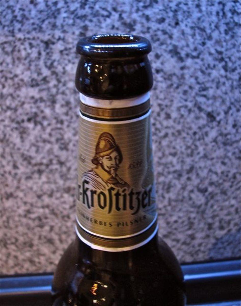 Long neck beer bottle, now empty!