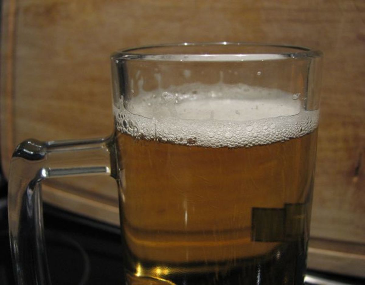 Beer , served in a glass
