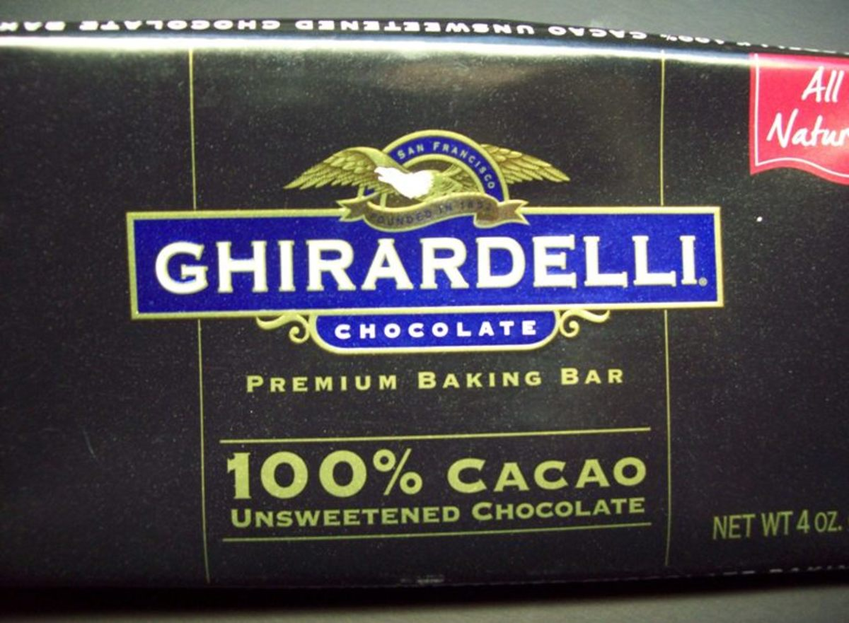 Unsweetened chocolate - 100% cacao.