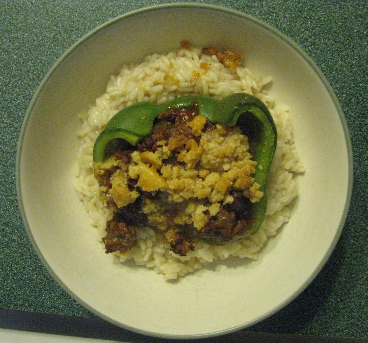Finished product over rice. Enjoy!