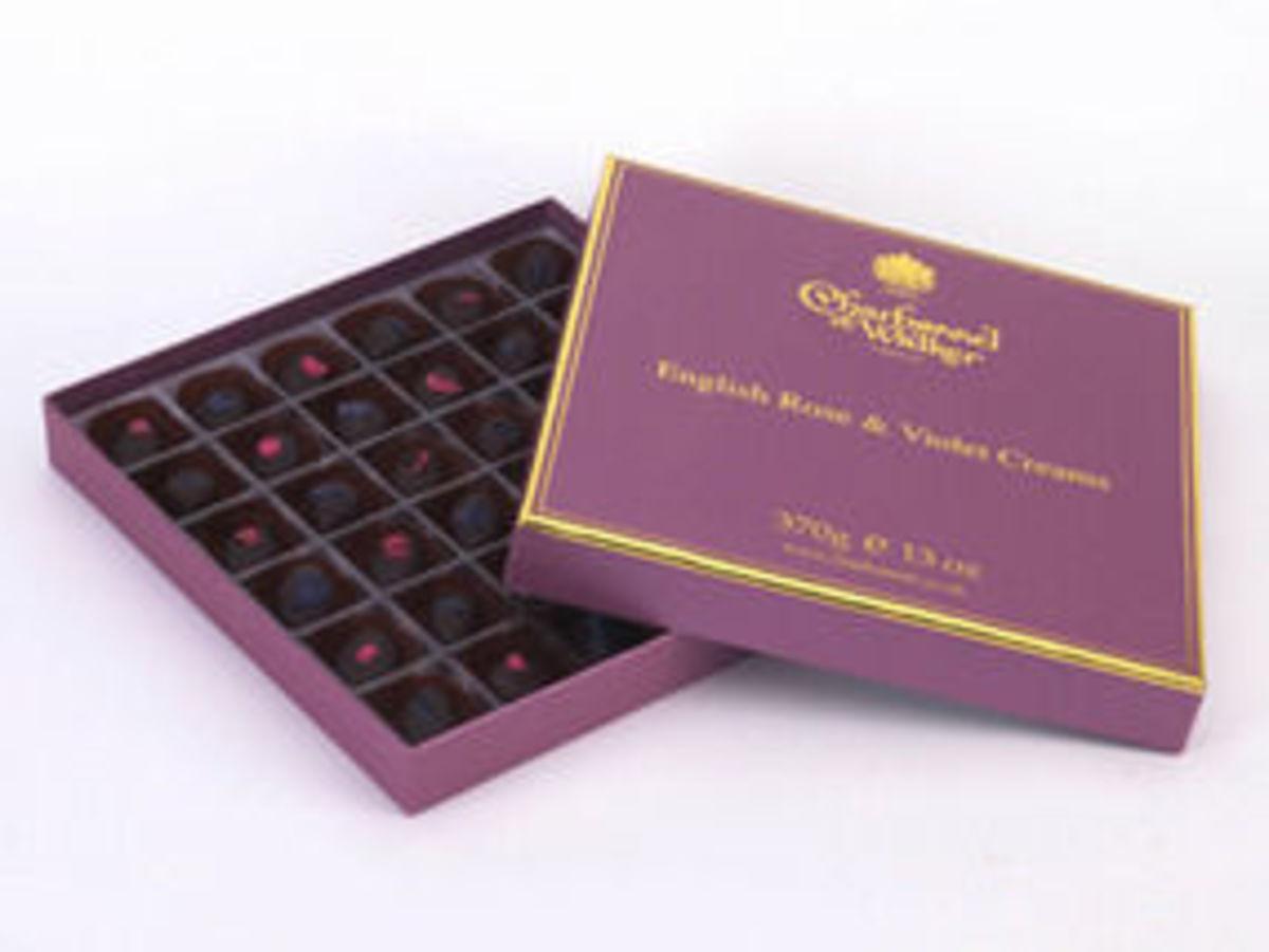 Charbonnel et Walker's Rose Violet Creams; rumoured to be one Queen Elizabeth II personal favourites.