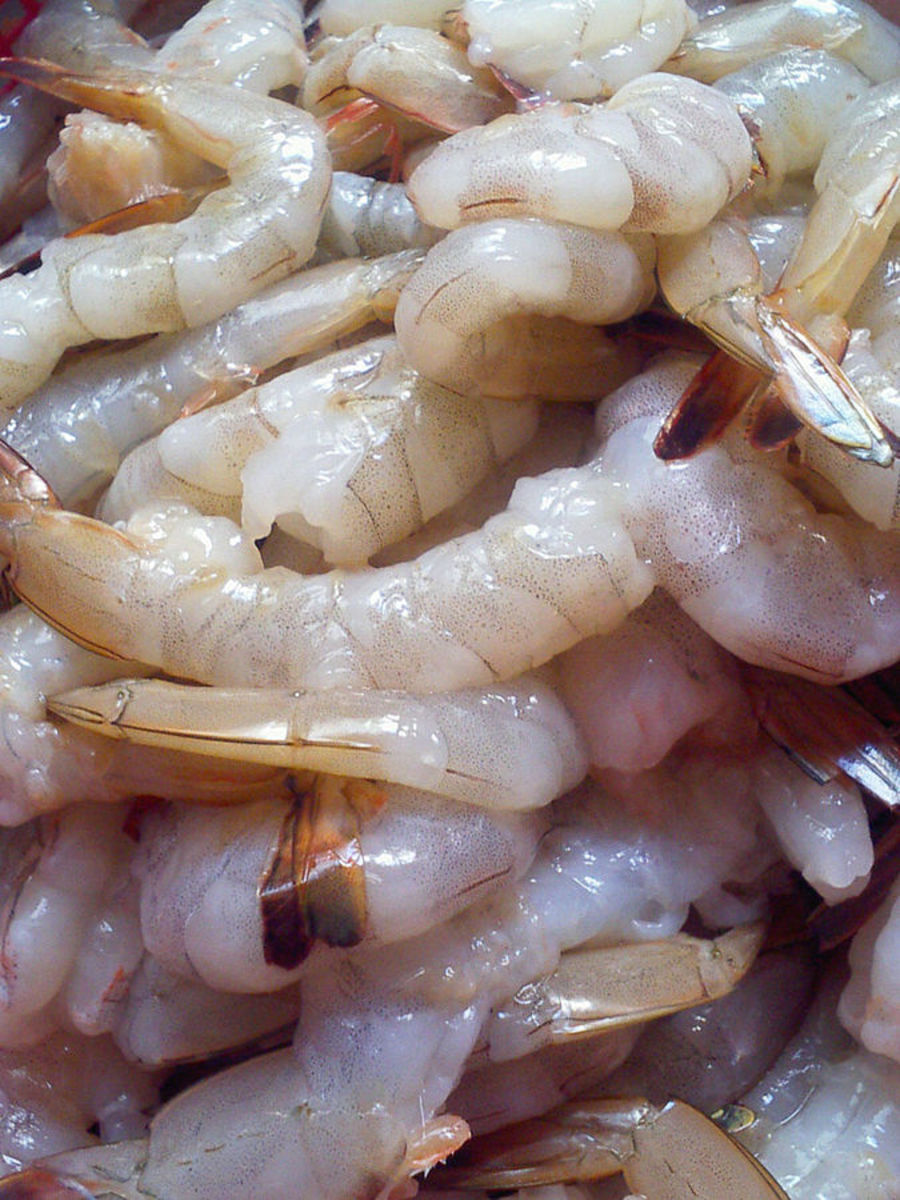 Raw shrimp