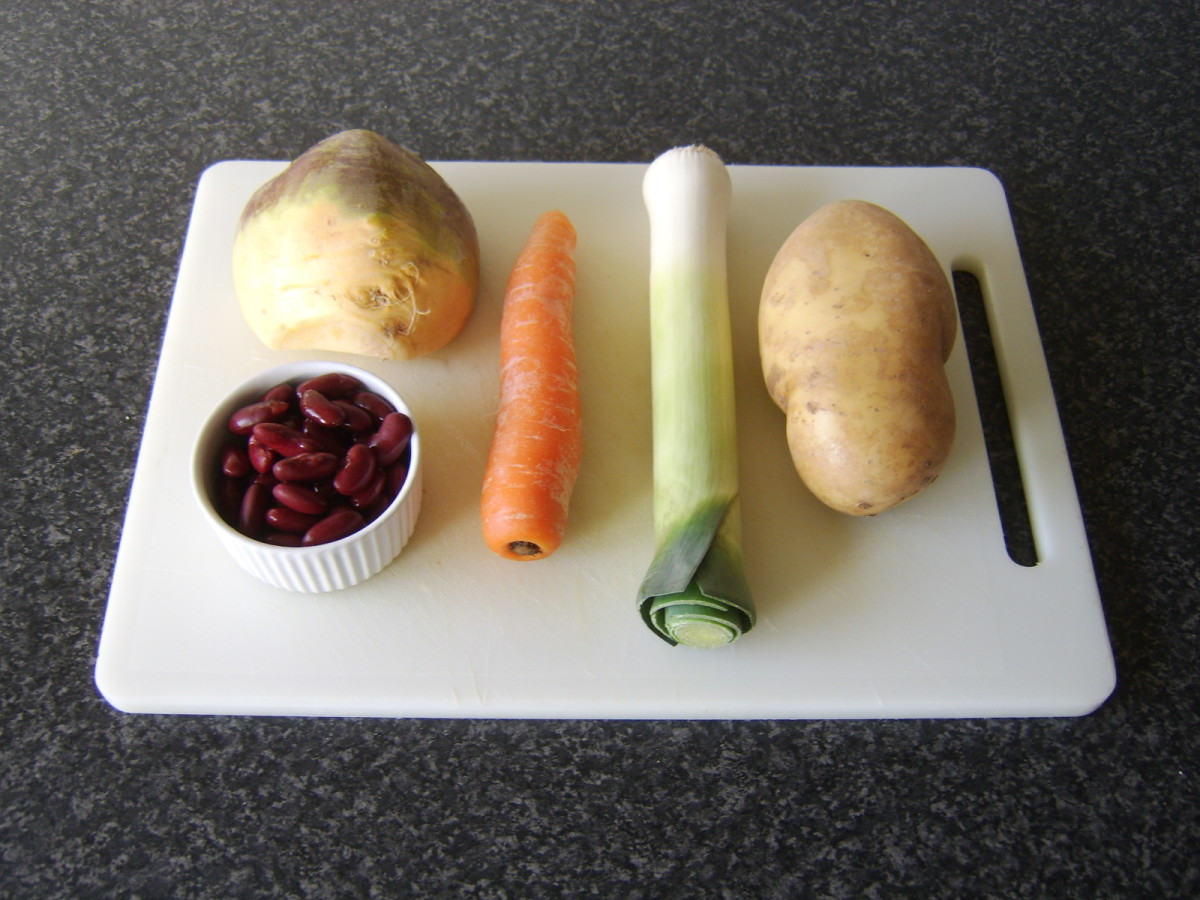 Principal vegetable and bean casserole ingredients