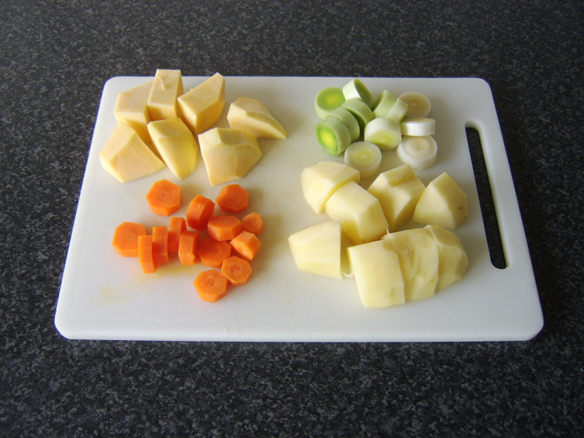 Chopped vegetables for casserole