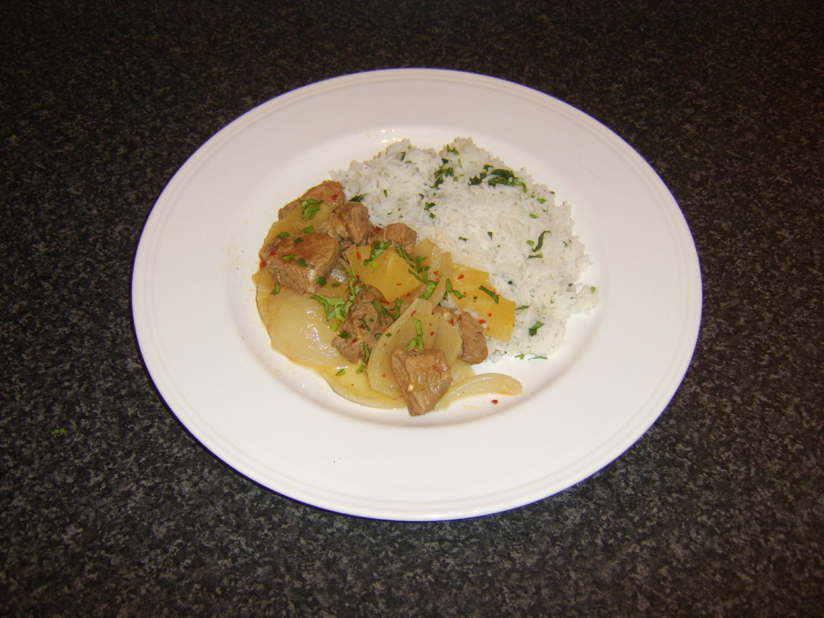 A deliciously sweet and spicy blend of pork, pineapple and chilli casseroled in apple cider