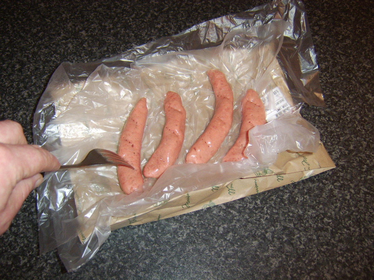 Sausages should be pricked to prevent them bursting