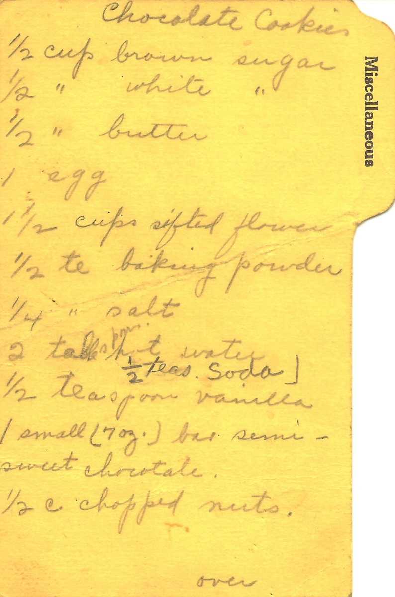 My grandma's recipe for chocolate cookies