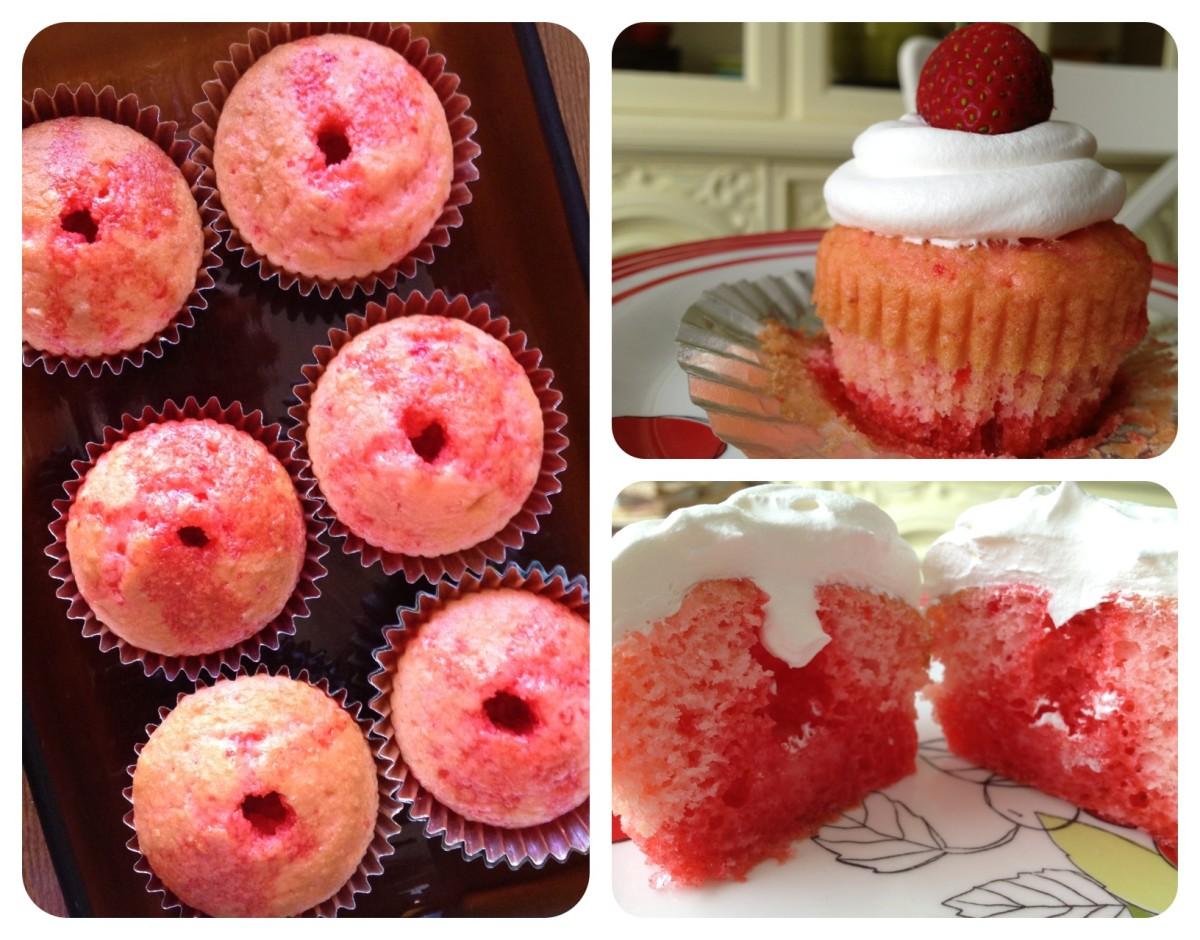 strawberry-jell-o-cake-with-fresh-strawberries