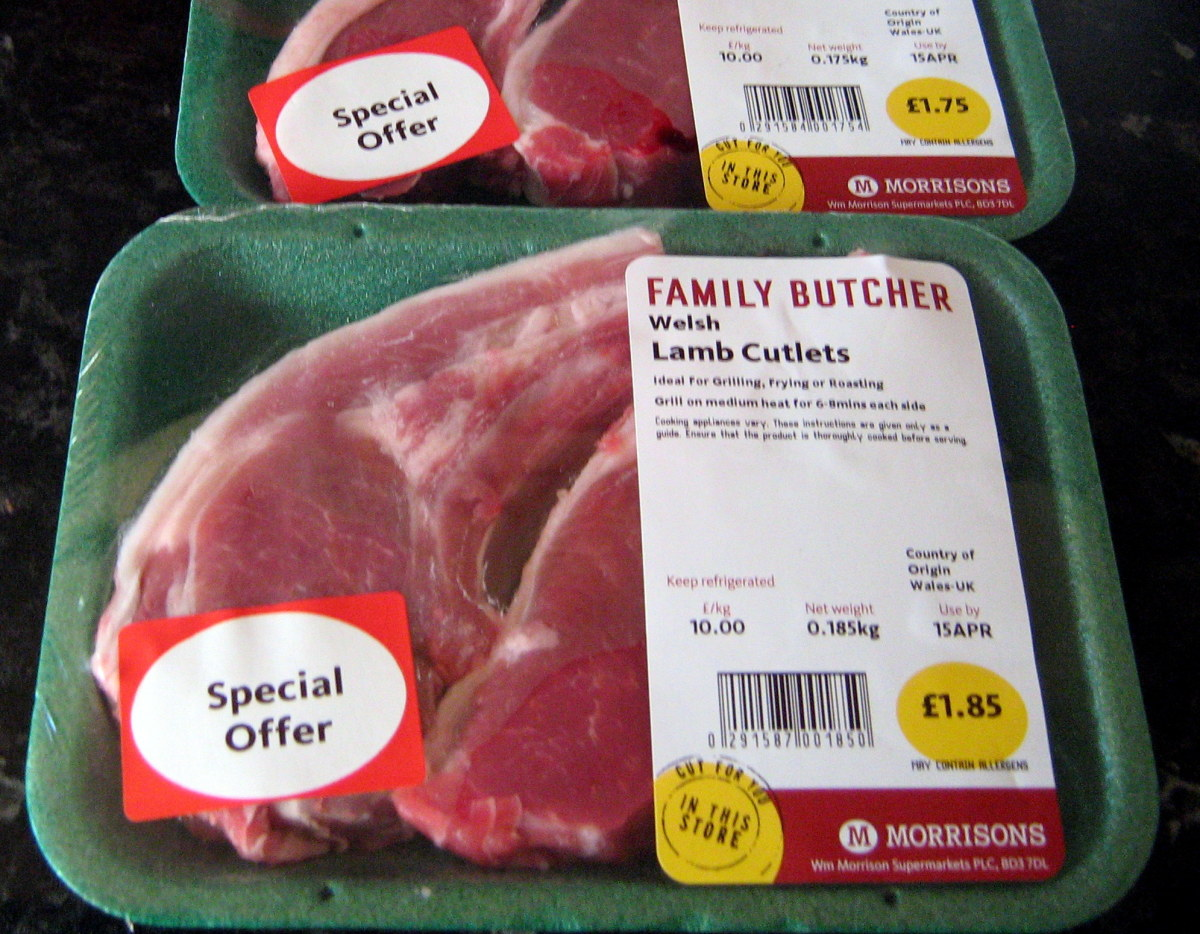 Lamb cutlets on special offer in Wales