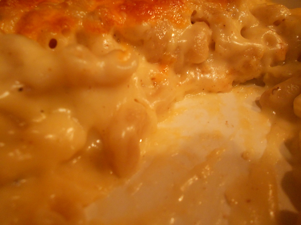 The macaroni and cheese will be very moist and creamy inside