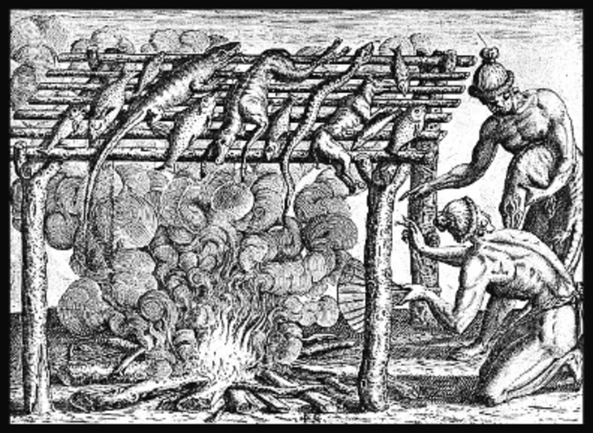 Early Native American Barbecue