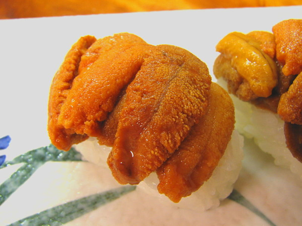 Uni sushi, part of my journey to sushi nirvana.