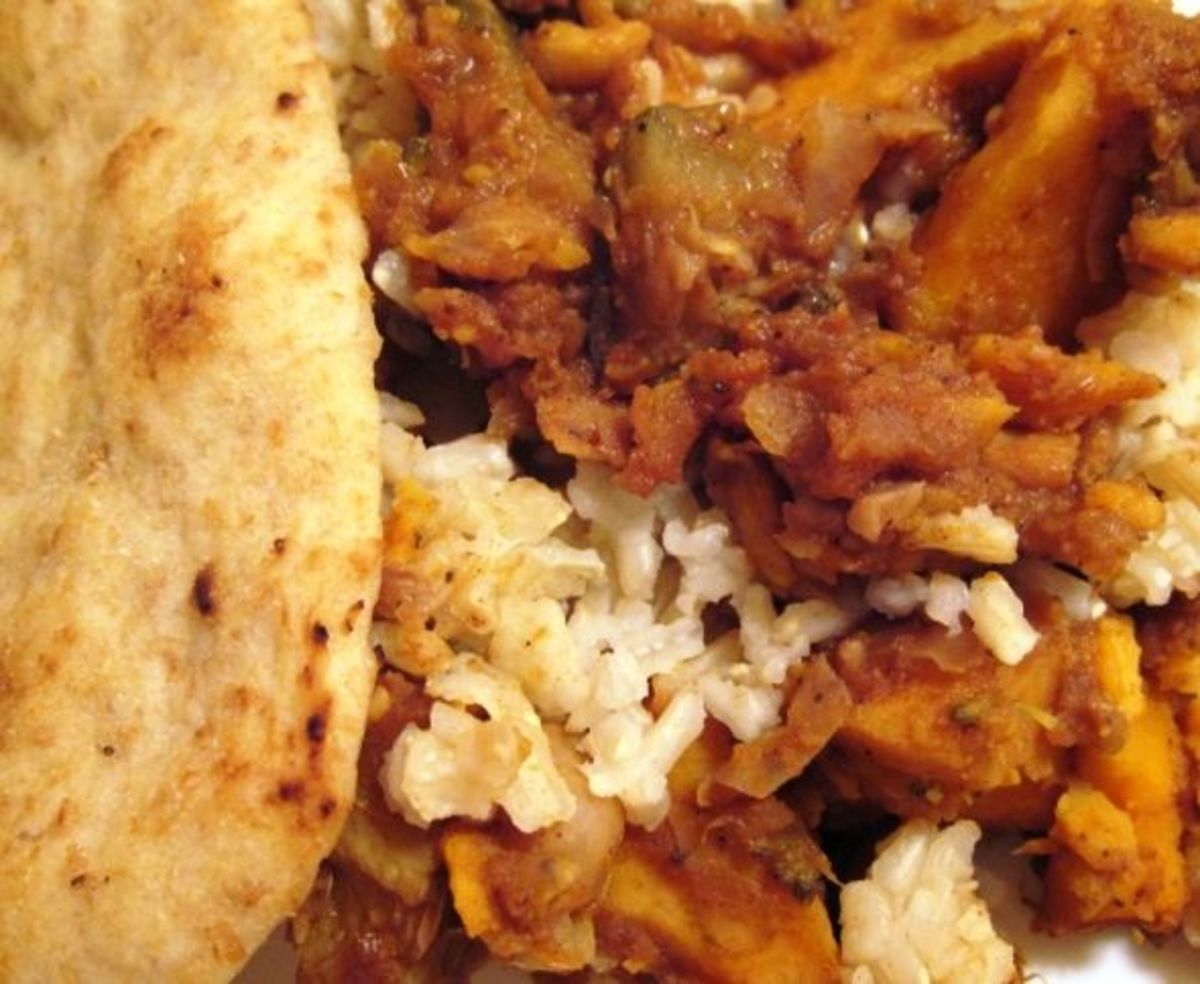 The end result: Serve with rice and naan, and you have a complete meal.