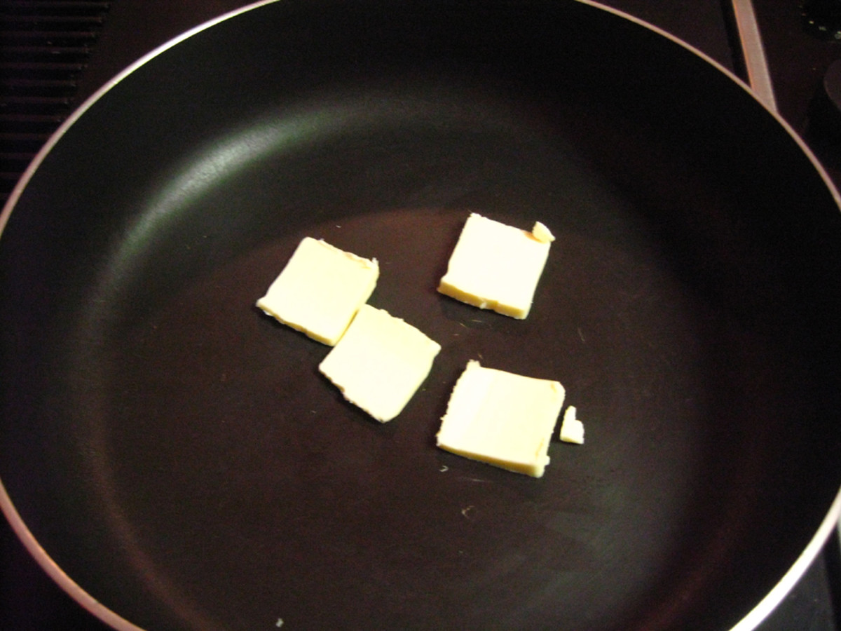 In a pan with some butter