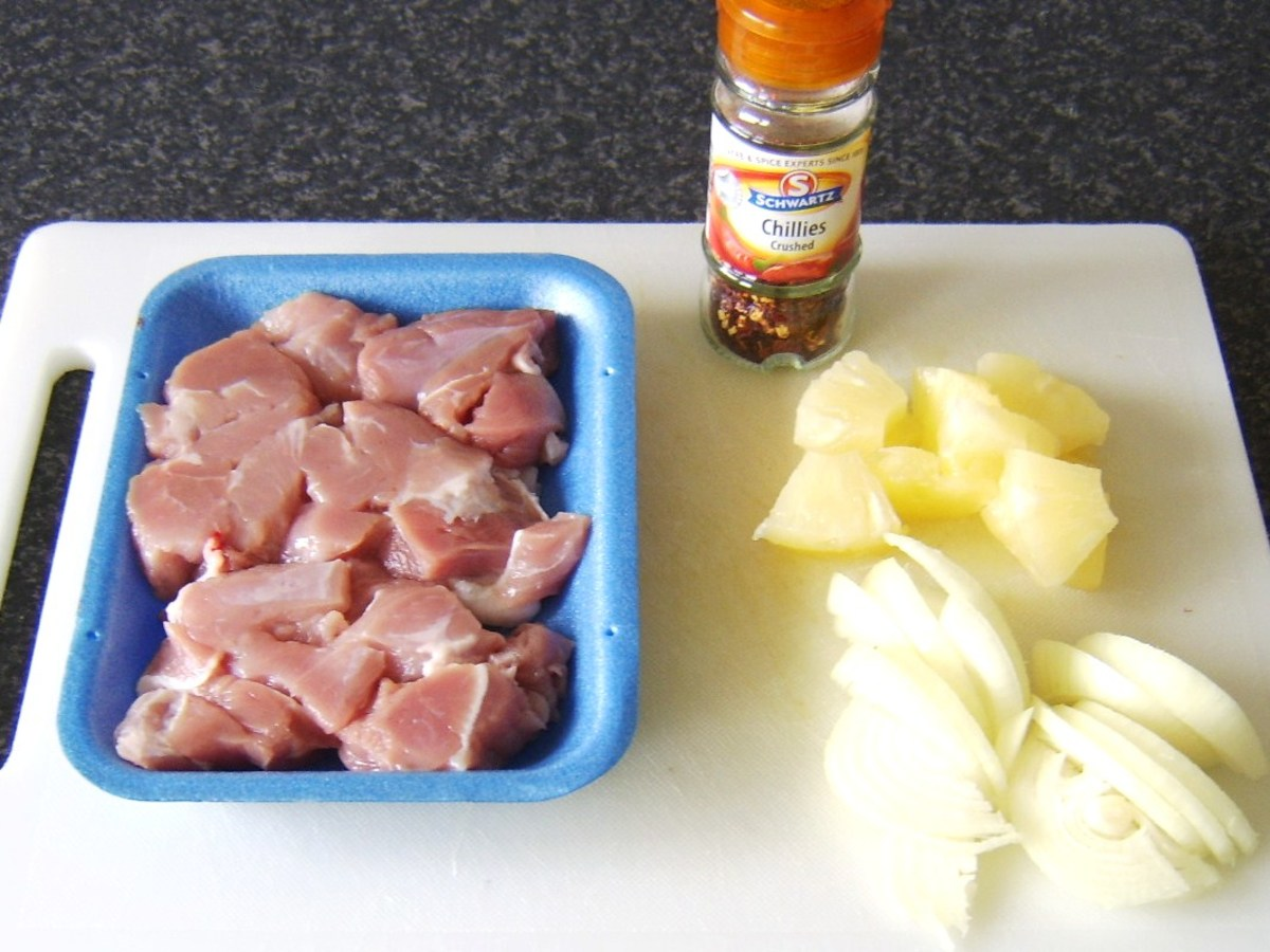 Pork and pineapple pasty filling ingredients
