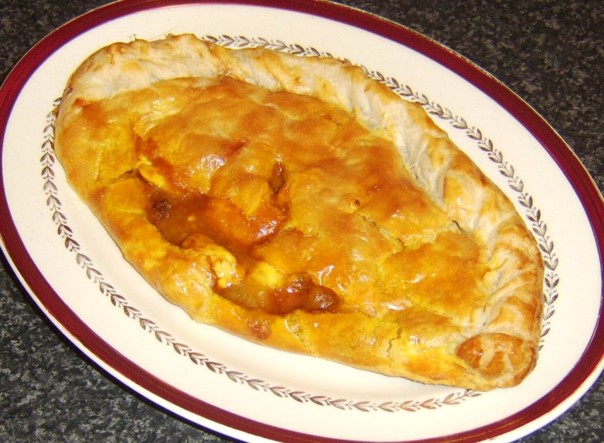 Chicken curry pasty