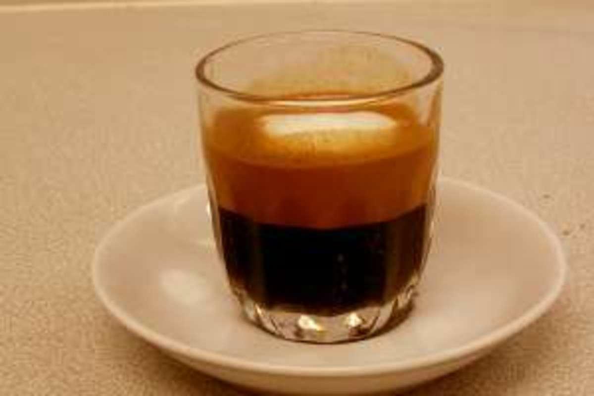 An espresso macchiato. Not much to it.