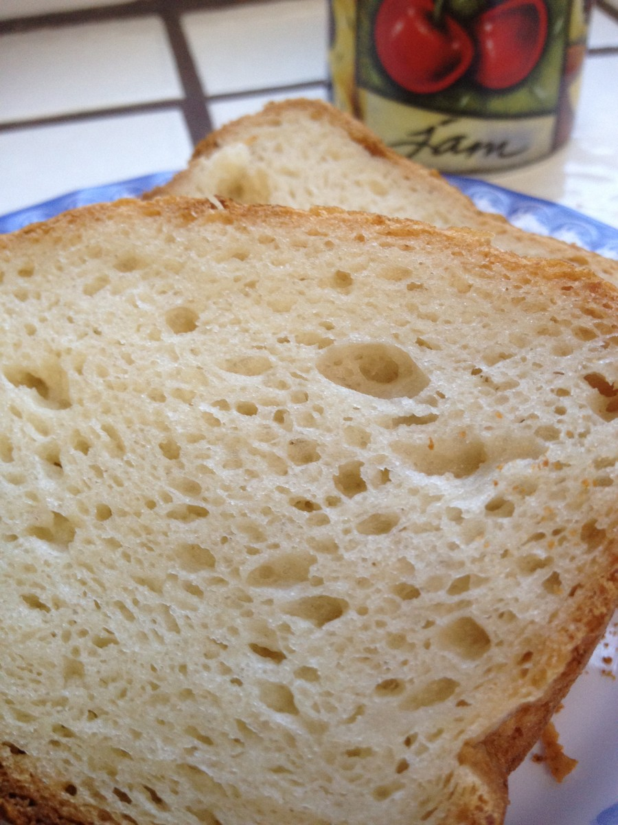Enjoy a slice of gluten free bread with your favorite jam!