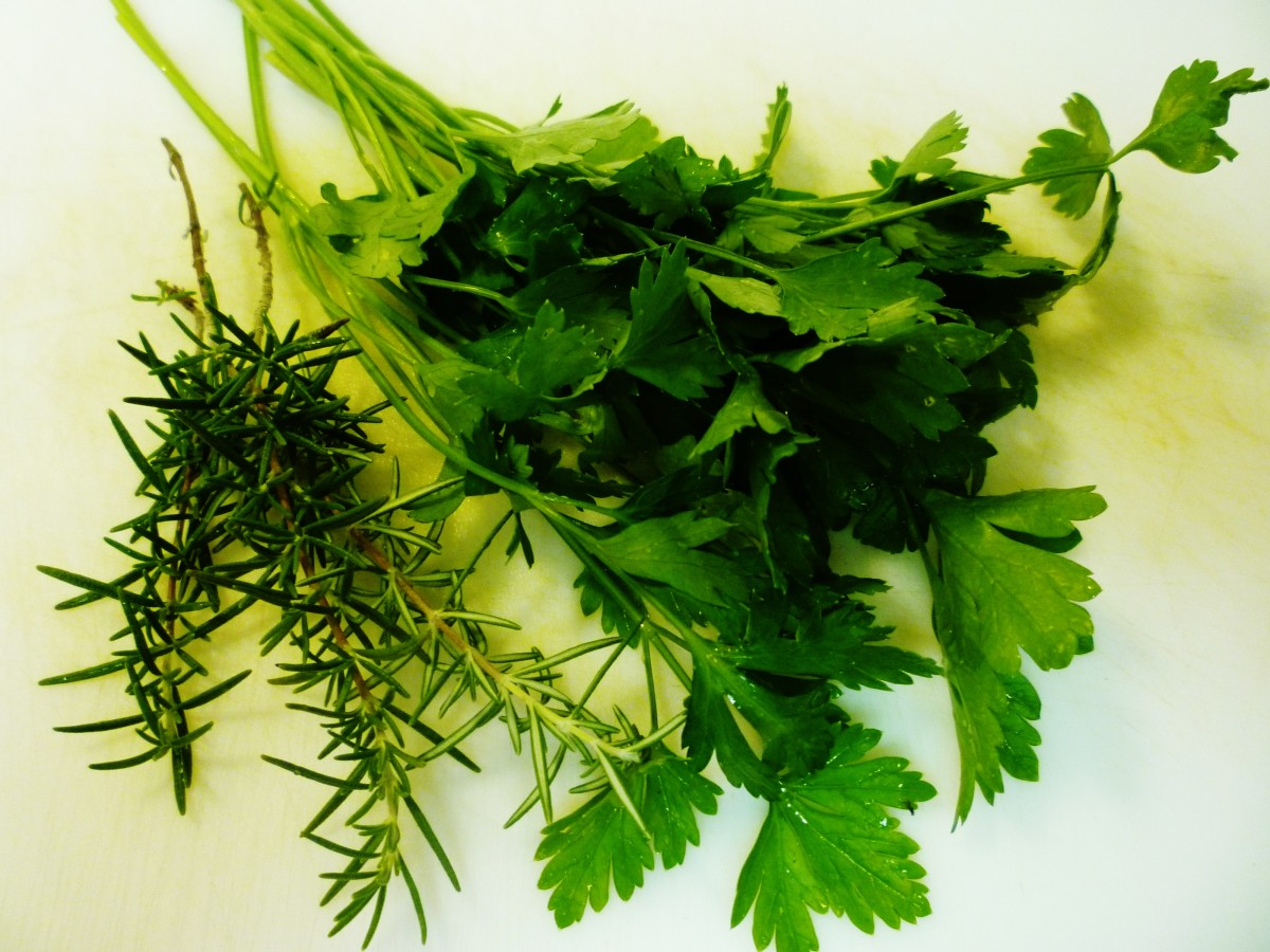 Parsley and rosemary